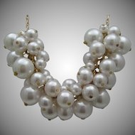 Champagne Bubbles Faux Pearl Necklace
