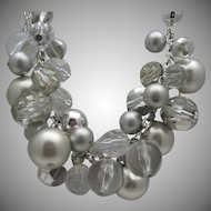 Lucite Pearl Necklace C1980