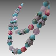 C1960 Floral Plastic Necklace Hong Kong