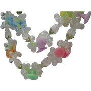 1960 Plastic Floral Necklace Hong Kong