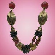 Ethnic Carnelian Brass Necklace