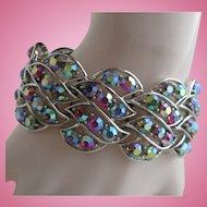 Aurora Borealis Rhinestone Cocktail Bracelet