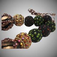 Rhinestone Baubles Disco Necklace 1970