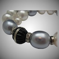Art Deco Style Faux Pearls Necklace