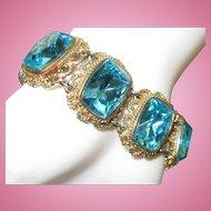 Aquamarine Rhinestone Bracelet small