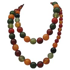 Harvest Lucite necklace 40 inches