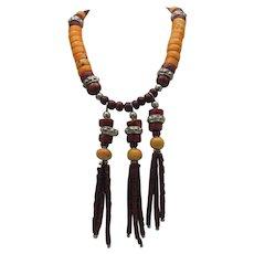 Hippie Coral Necklace c1960