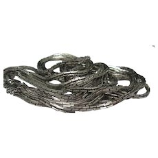 D'Orlan Slinky Silver Necklace