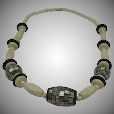 Art Deco Celluloid Abalone Necklace