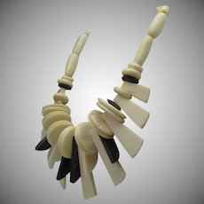 Art Deco Bone Necklace