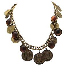 French Gold Coin Necklace