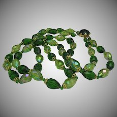 West Germany Green Necklace