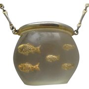 Lucite Fishbowl Necklace