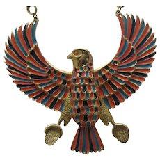 Egyptian Revival Phoenix Rising Necklace