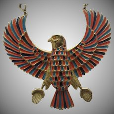 Egyptian Revival Phoenix Rising Necklace