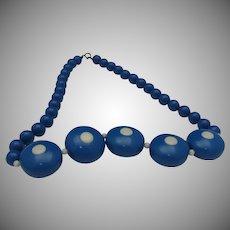 C1940 Polka Dot Celluloid Necklace