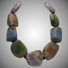 Huge Lucite Sparkle Beads Necklace