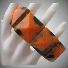 1970 Orange Black Marbled Stretch Brace;et