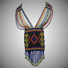 Native Woven Glass Bead Necklace