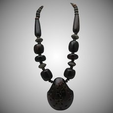 Hawaiian Coconut Shell Necklace 1960