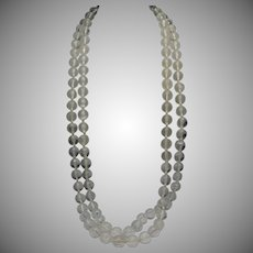 """Clear Lucite Necklace W.Germany 60 """""""