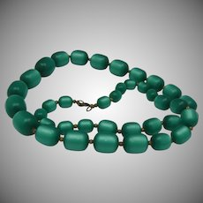 Thermoset Green Moonglow Necklace