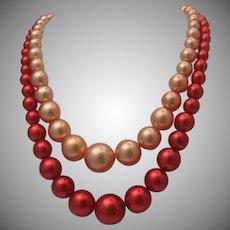 Cherry Blossom Plastic Necklace