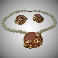 Richelieu Necklace Earrings Set