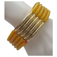 Celluloid Stretch Mid-Century Bracelet