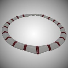 Red White 1960s Necklace