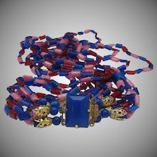 Blue Plastic Necklace 1960