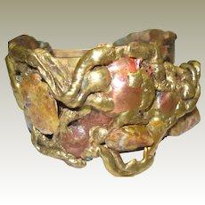Brass Brutalist Cuff Bracelet