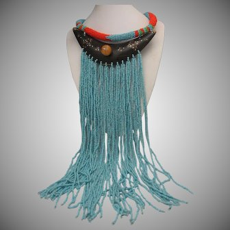 Maasai Tribal Beaded Necklace