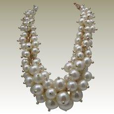 Massive Bubbles of Pearls Necklace