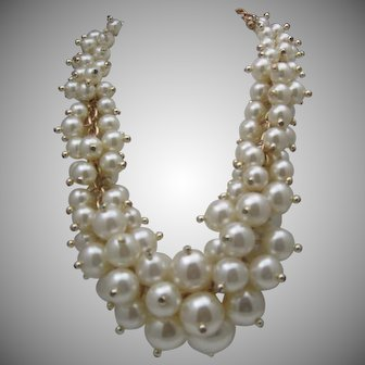 Massive Bubbles of Pearls Necklace