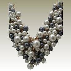 Opulent faux Pearl Collar