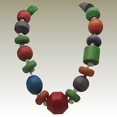 C1930 Blocks Necklace OAK