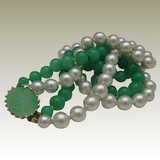 Mid-Century Peking Glass Necklace