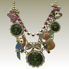 Vintage Betsy Johnson Whimsical Necklace