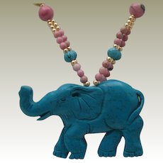 Turquoise Rhodonite Necklace