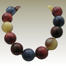 Lucite Balls Necklace c1980