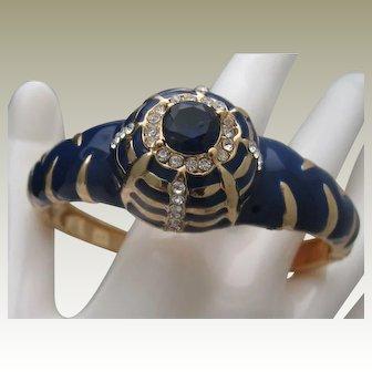 French Enamelled Rhinestone Bracelet