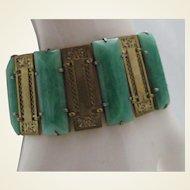 Art Deco Peking Glass Bracelet