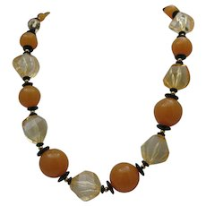 Butterscotch Celluloid Necklace c1950