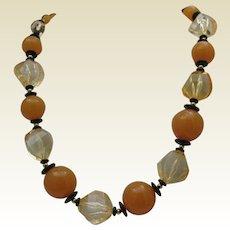 Butterscotch Celluloid Necklace c1950