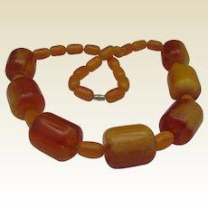 Butterscotch Celluloid Necklace c1960