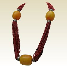 Coral Tribal Necklace