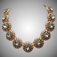 Enameled Rhinestone Necklace
