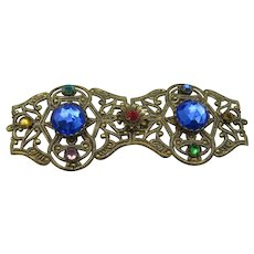Czech Rhinestone Belt Buckle