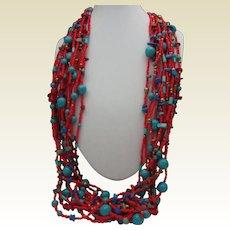 Joan Rivers Czech Bead Necklace